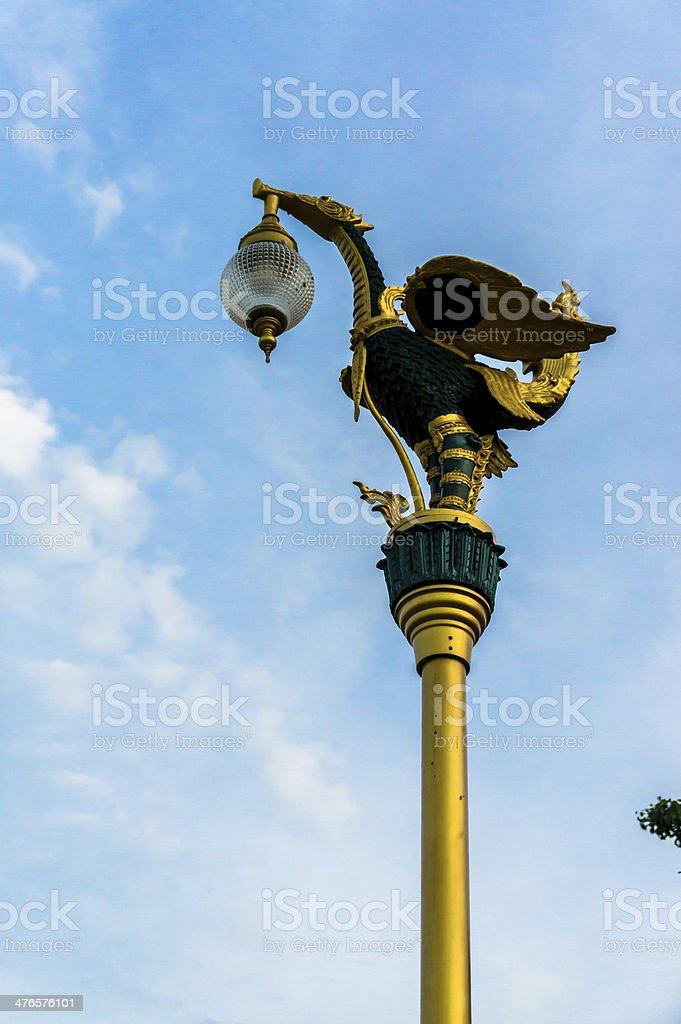 thai style bird lamp royalty-free stock photo