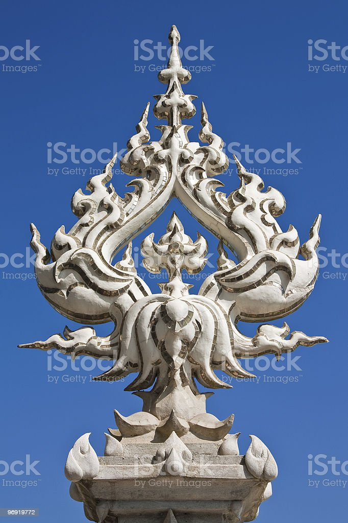 Thai style church decoration royalty-free stock photo