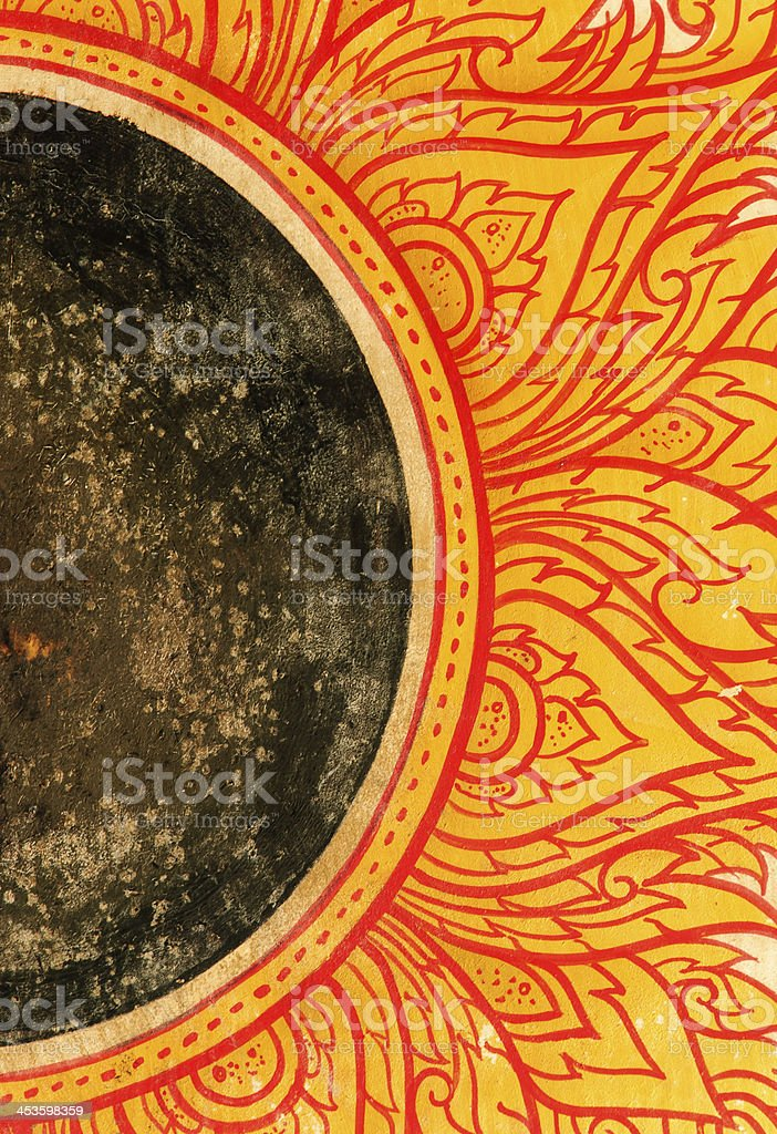 Thai style drum stock photo