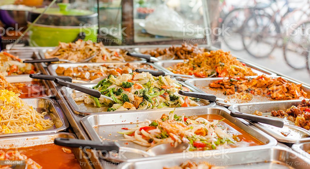 Thai style fast food. stock photo