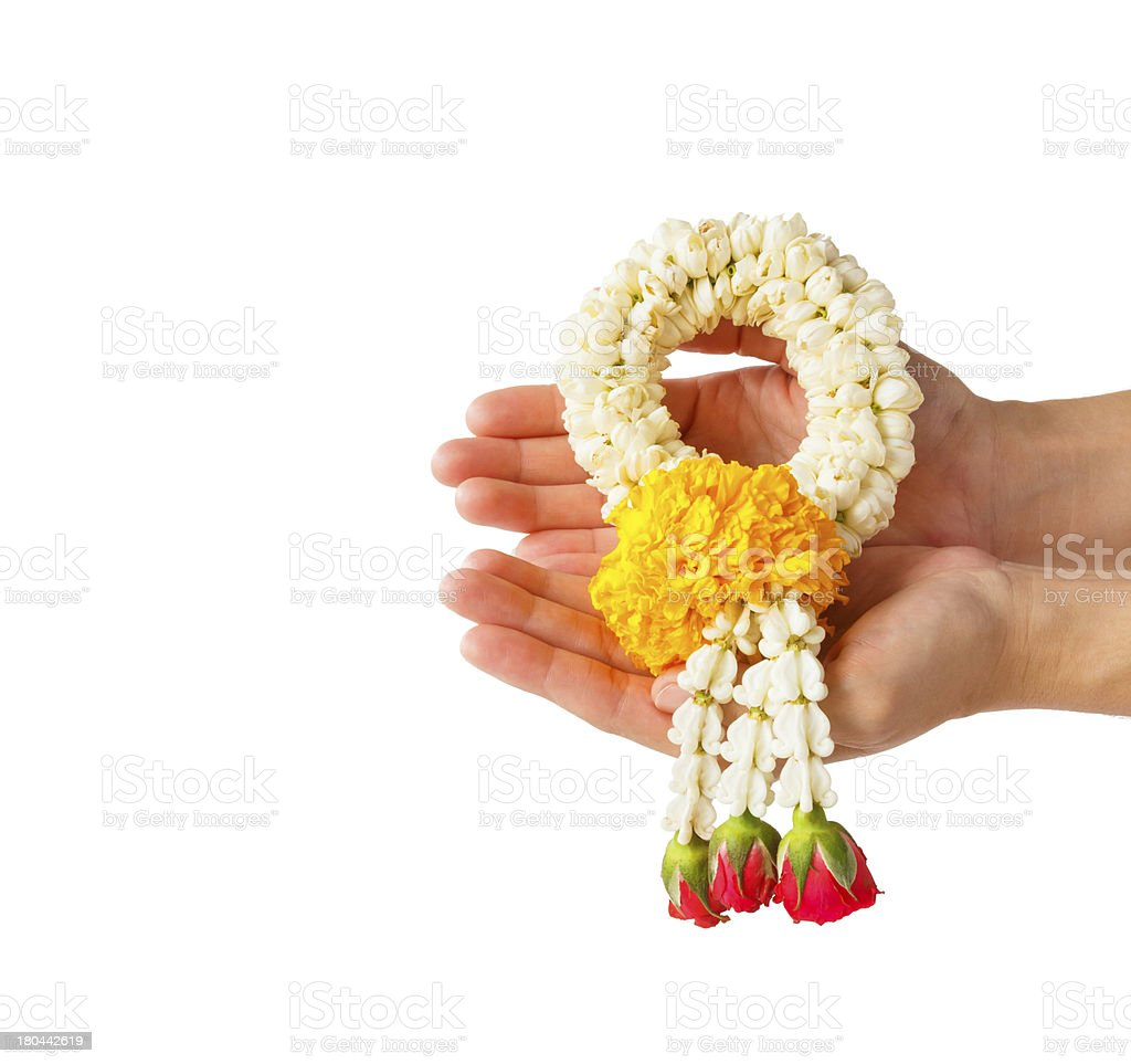 Thai style flower garland royalty-free stock photo