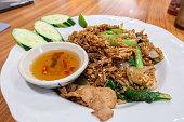 Thai style fried rice with various vegitables.