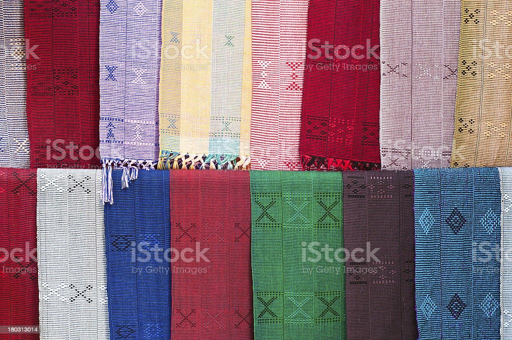 Thai style handmade textile. royalty-free stock photo