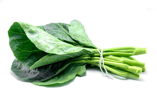 istock Thai style kale, Green kale isolated on white background. 1032090762
