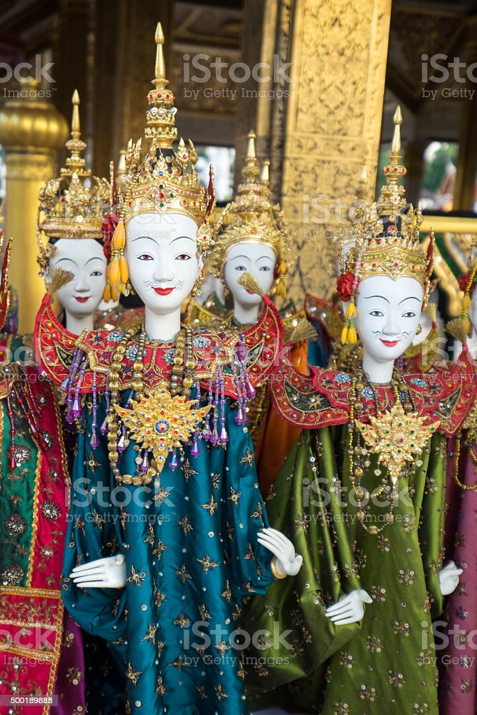 thai style puppetry stock photo