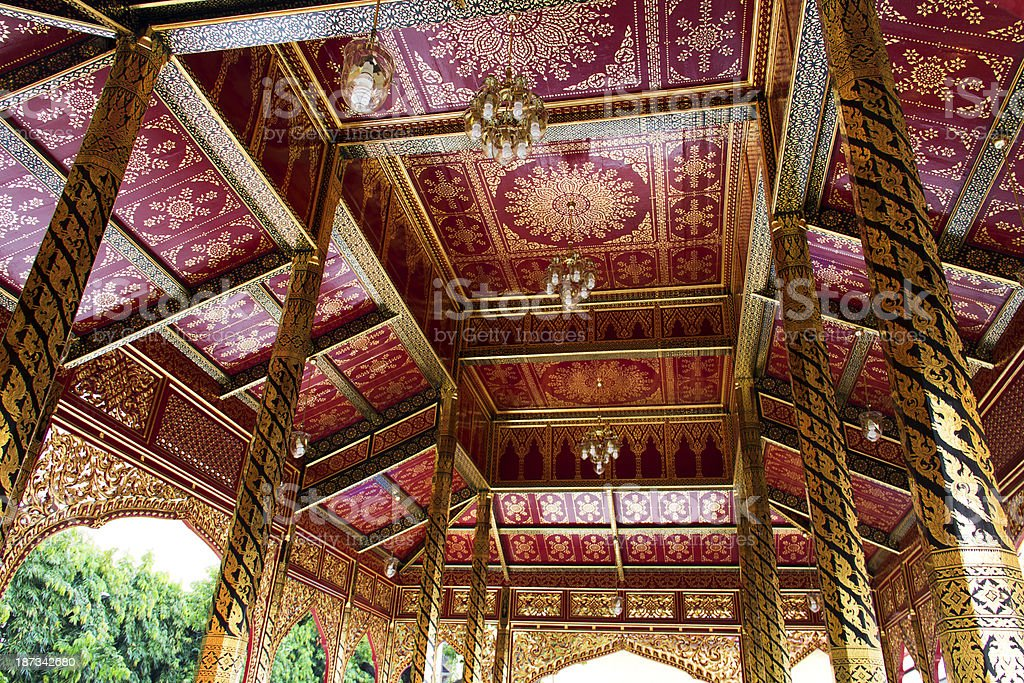 Thai style roof royalty-free stock photo