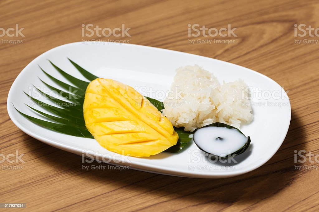 Thai style tropical dessert stock photo