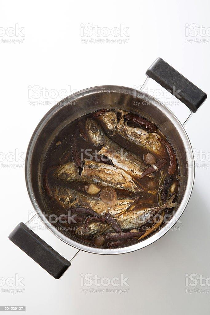 Thailändische süße Gebratene Makrele in pot – Foto