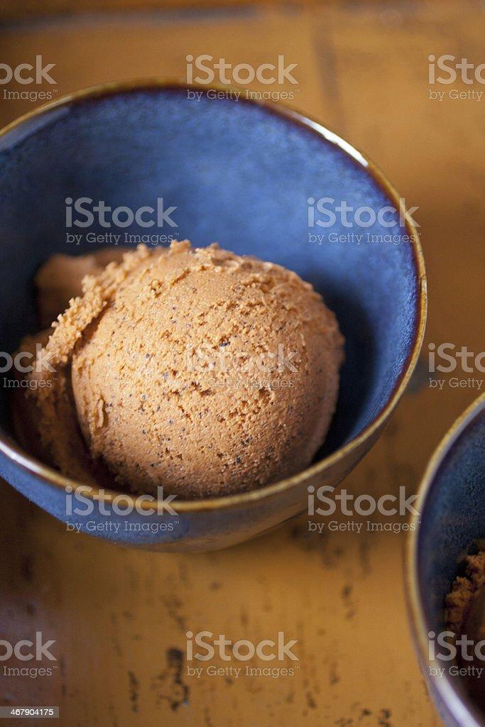 Thai tea ice cream royalty-free stock photo
