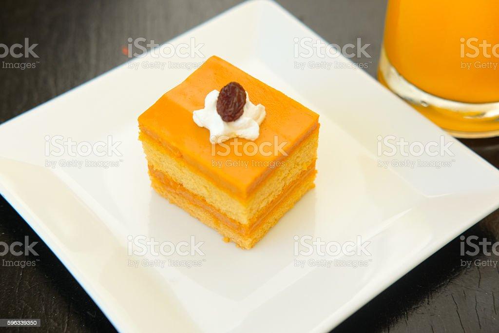 Thai tea layer cake with mold royalty-free stock photo