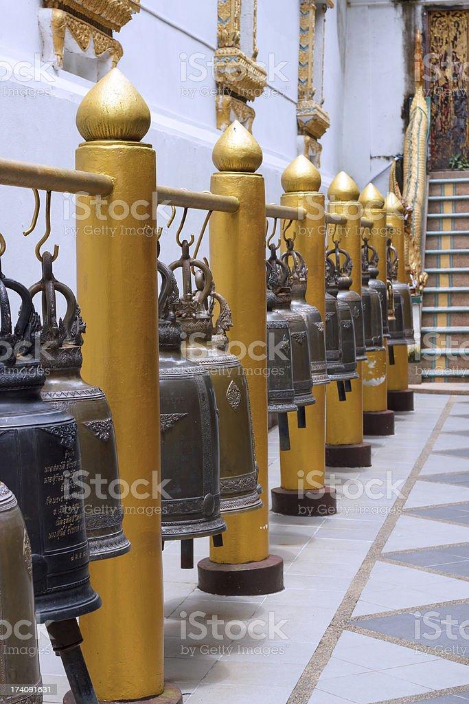 Thai temple bells royalty-free stock photo