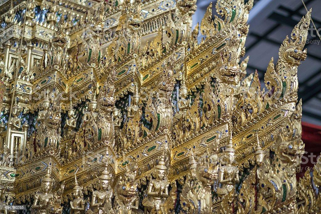 Thai temple detail royalty-free stock photo