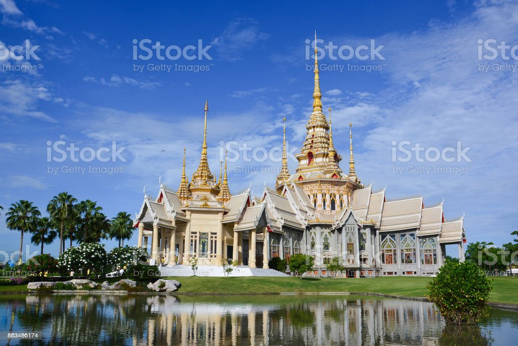 Thai temple in Nakhon Ratchasima or Korat, Thailand stock photo