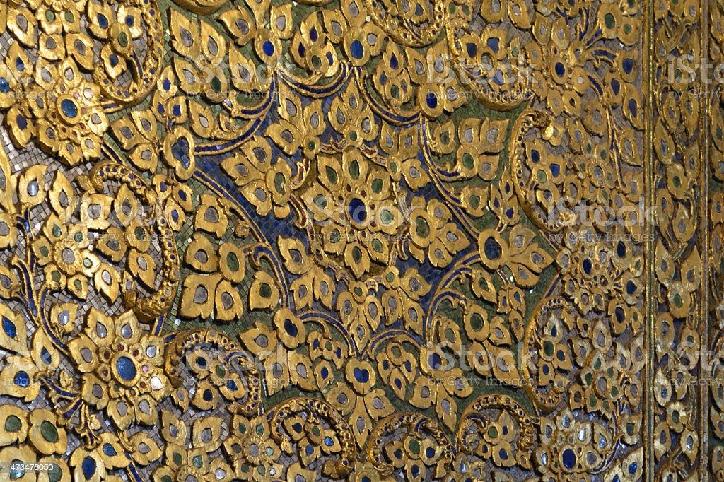 Thai texture at Watpho, Bangkok, Thailand stock photo