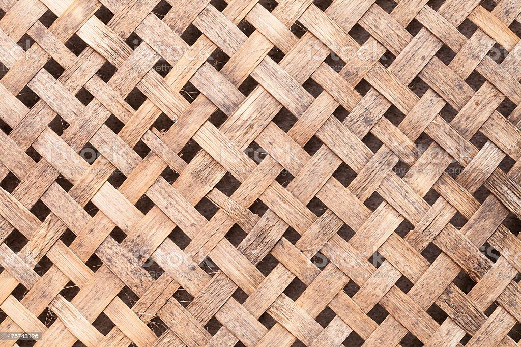 Thai threshing basket background texture. stock photo