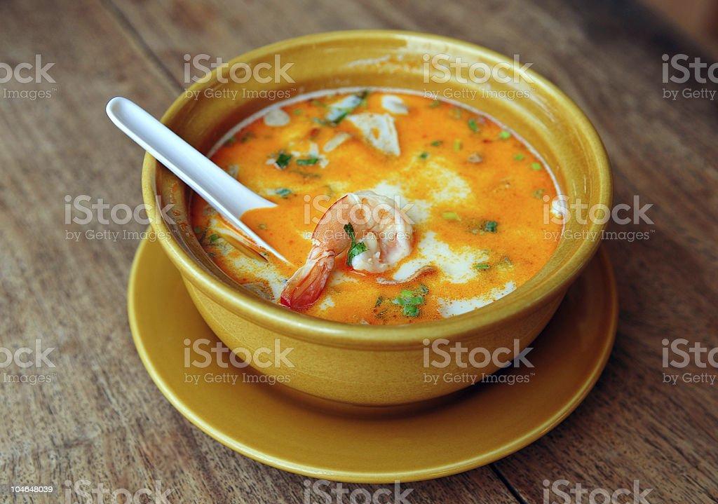 Thai Tom Yum Soup royalty-free stock photo