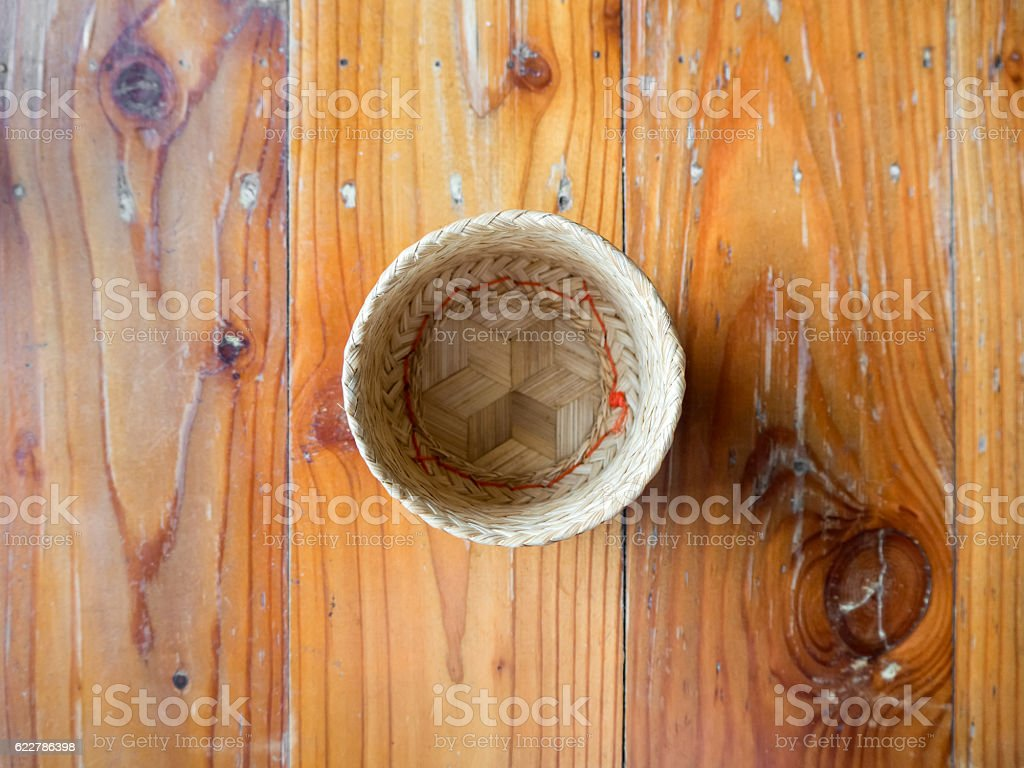 Thai tradition sticky rice. stock photo
