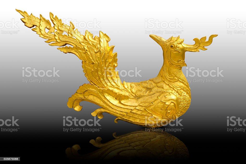 Traditionelle Thai-Vogel-Skulptur – Foto