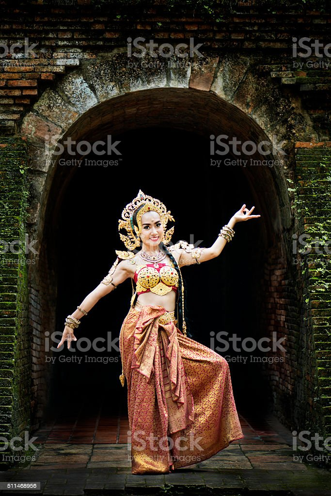 Thai Traditional Costume stock photo