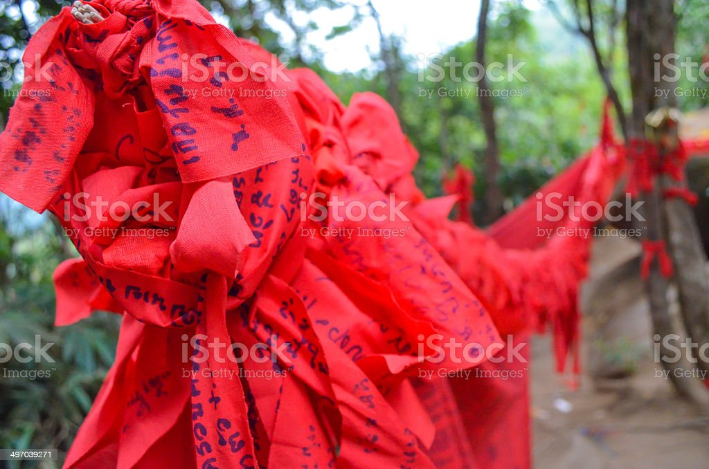 Thai traditional red fabric royalty-free stock photo