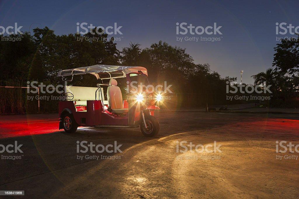 Thai Tuktuk at night royalty-free stock photo