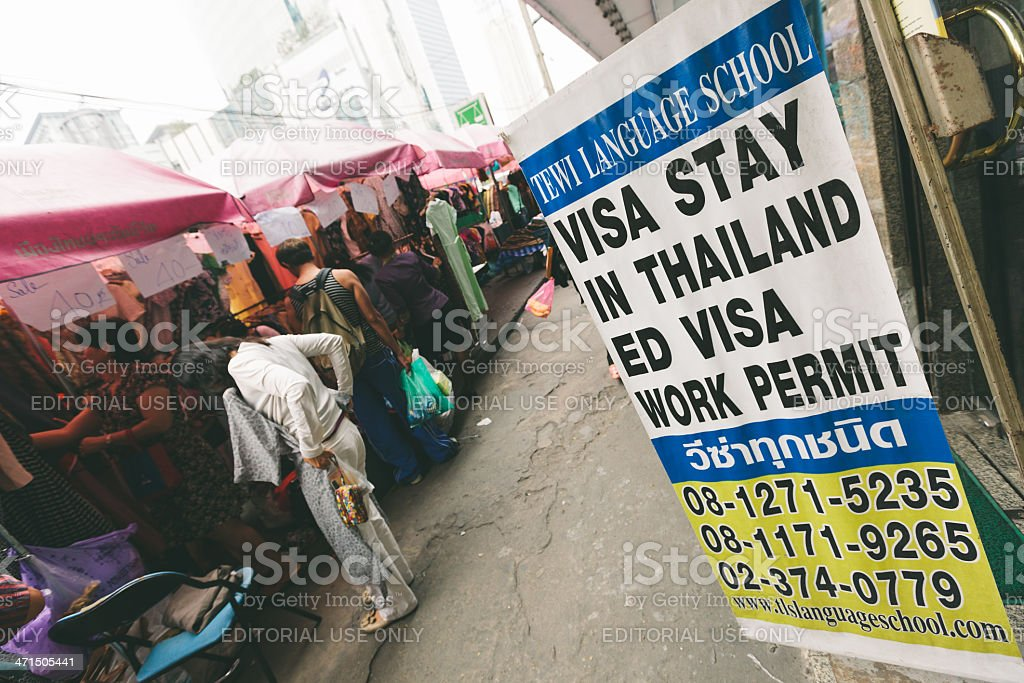 Thai Visa in Bangkok royalty-free stock photo