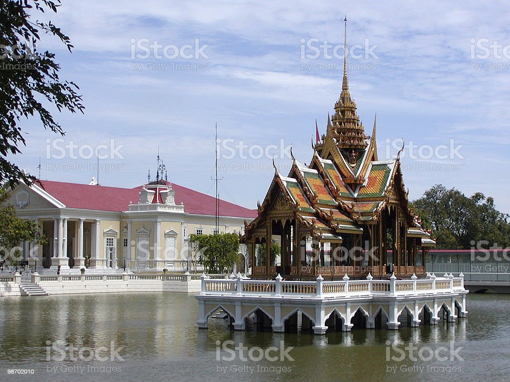 Thai Water Temple royalty-free stock photo