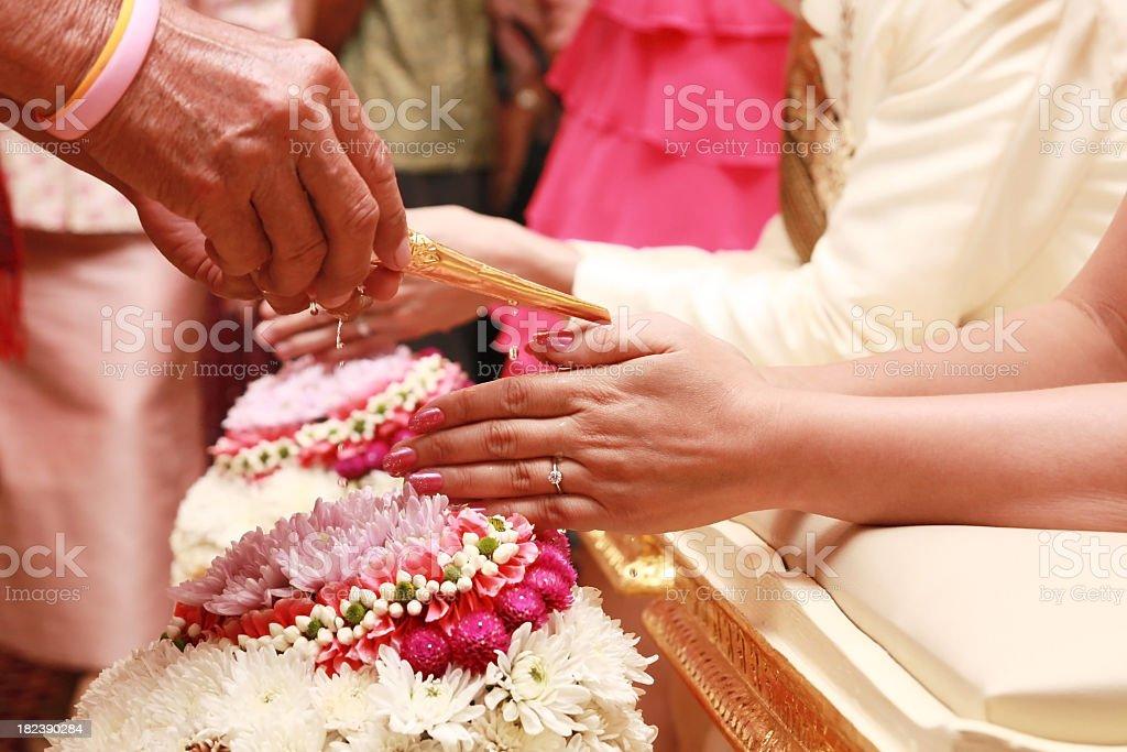 Thai wedding ceremony royalty-free stock photo