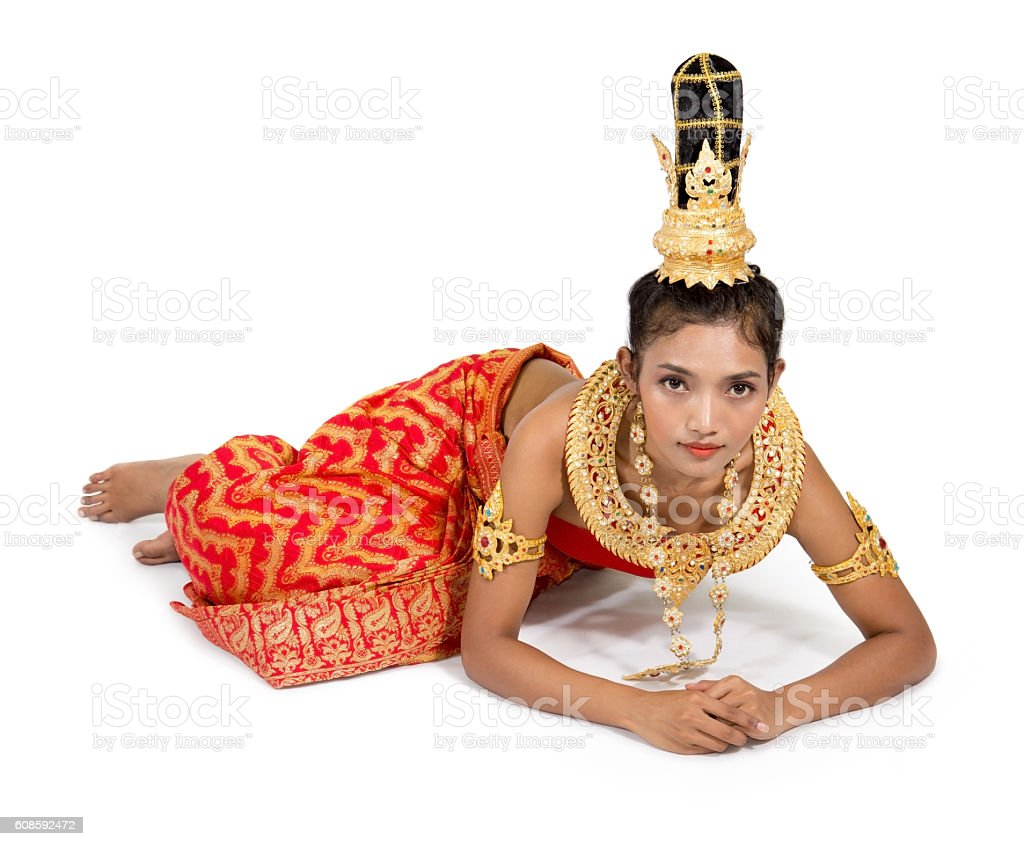 Thai Woman In A Submissive Position Stock Photo - Download