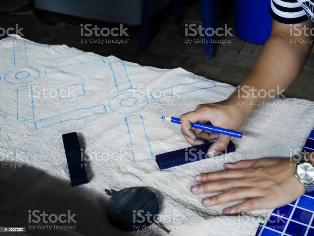 7d0fe390 Thai Women Create And Making Batik Tie Dye Stock Photo - Download ...