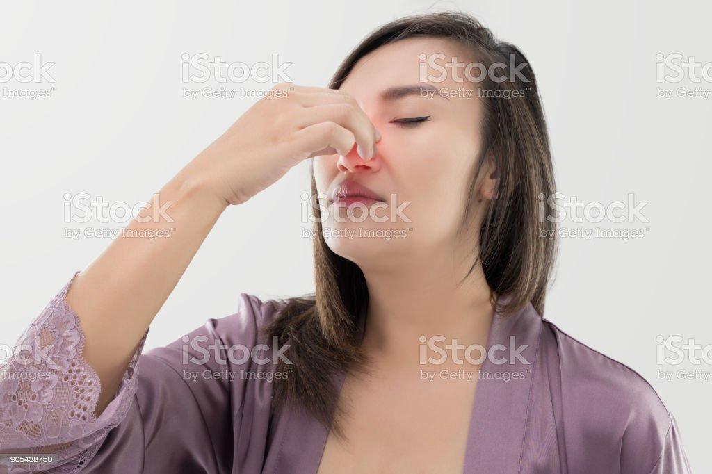 Thai women with nosebleed stock photo