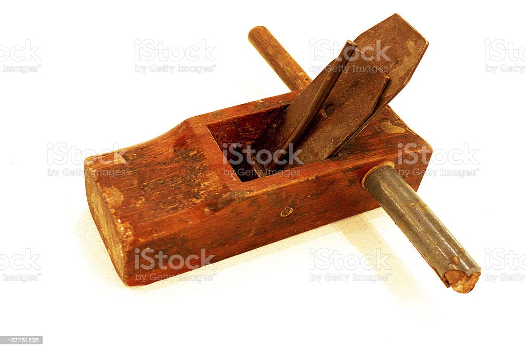 Thai wood plane stock photo