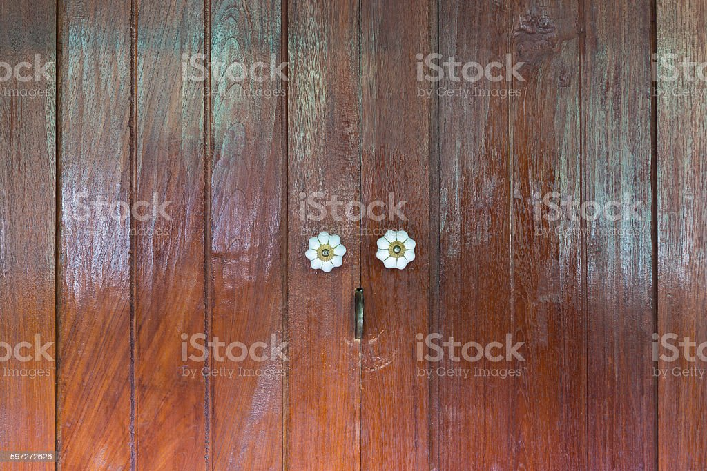 Thai wooden door royalty-free stock photo
