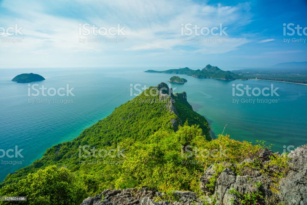 Thailand and the sea stock photo