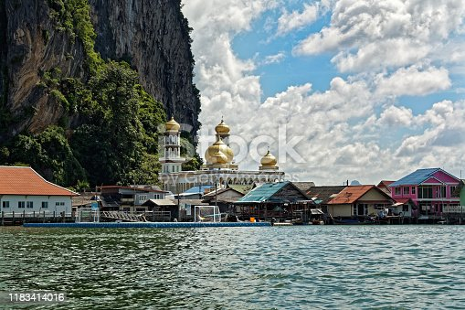 Thailand - Ao Phang-nga  National Park, consists of an area of the Andaman Sea studded with numerous limestone tower karst islands, best known is Khao Phing Kan, called