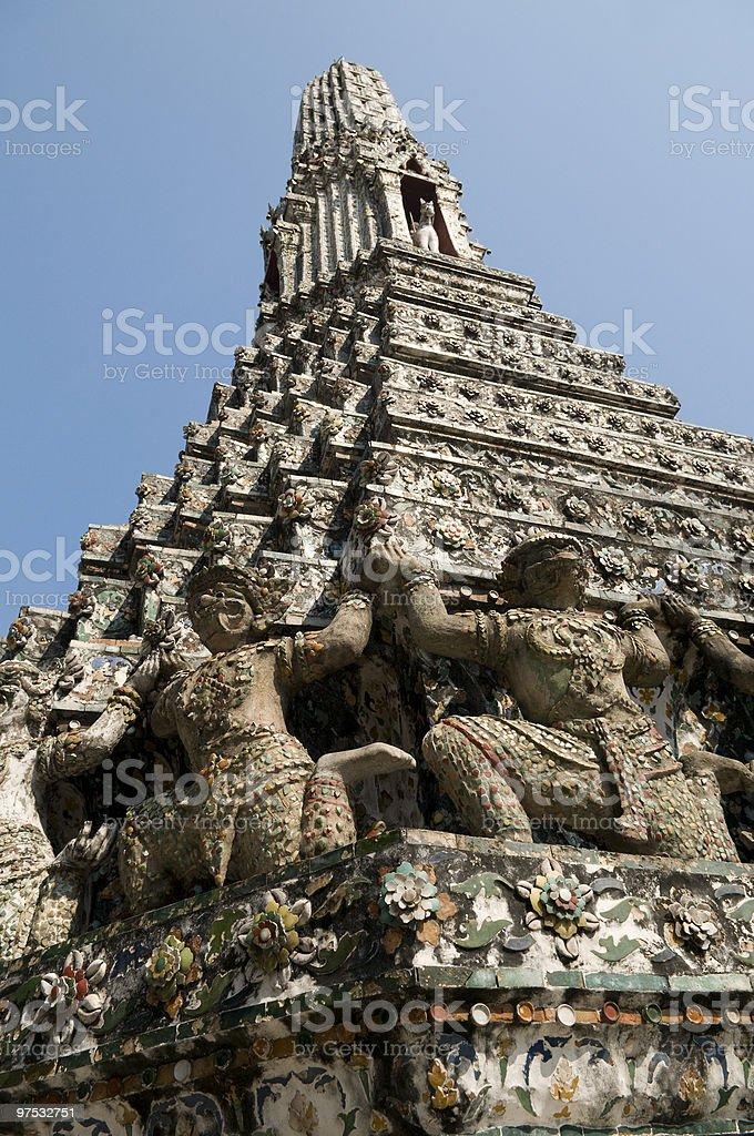 Thailand, Bangkok, Arun Temple royalty-free stock photo