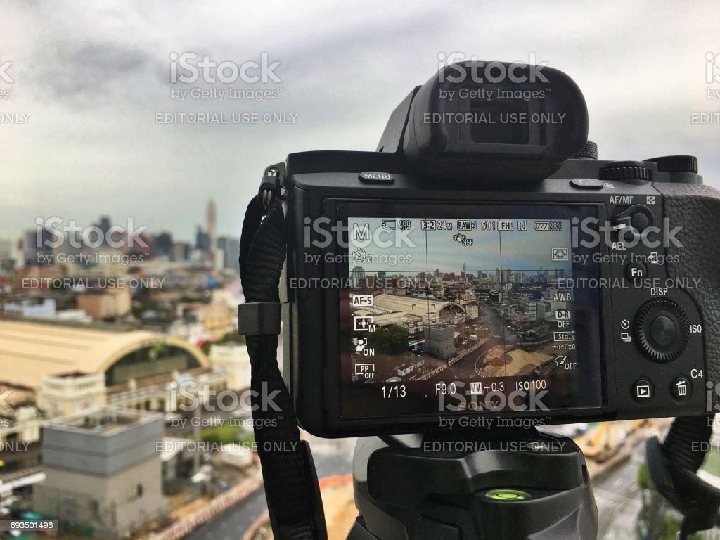 Thailand Bangkok Mai 2017 Sony A7 Serie Fullframe Mirorrless Kamera ...