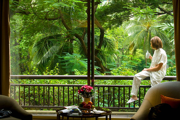 Thailand - Bangkok,  my room of Honeymoon stock photo