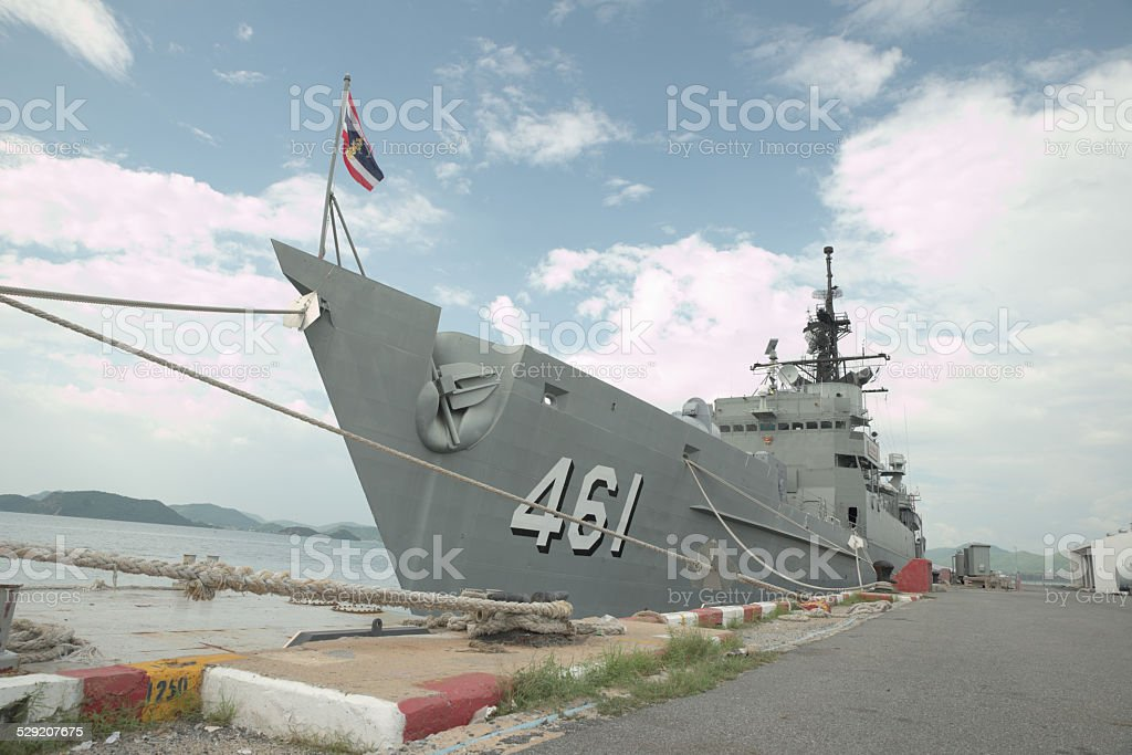 Thailand battleship stock photo