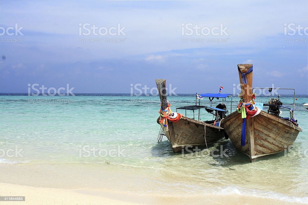 Thailand - boating stock photo