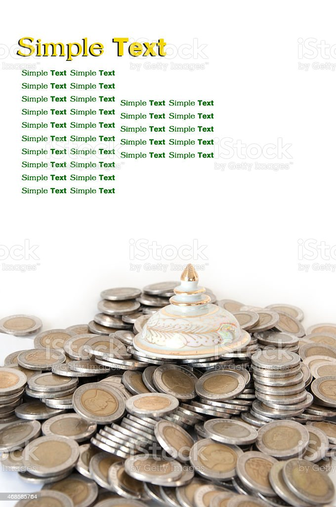 Thailand coins stock photo