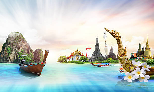 thailand, concept - kratong stock photos and pictures