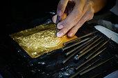 thailand craftsman gold making in sukhothai