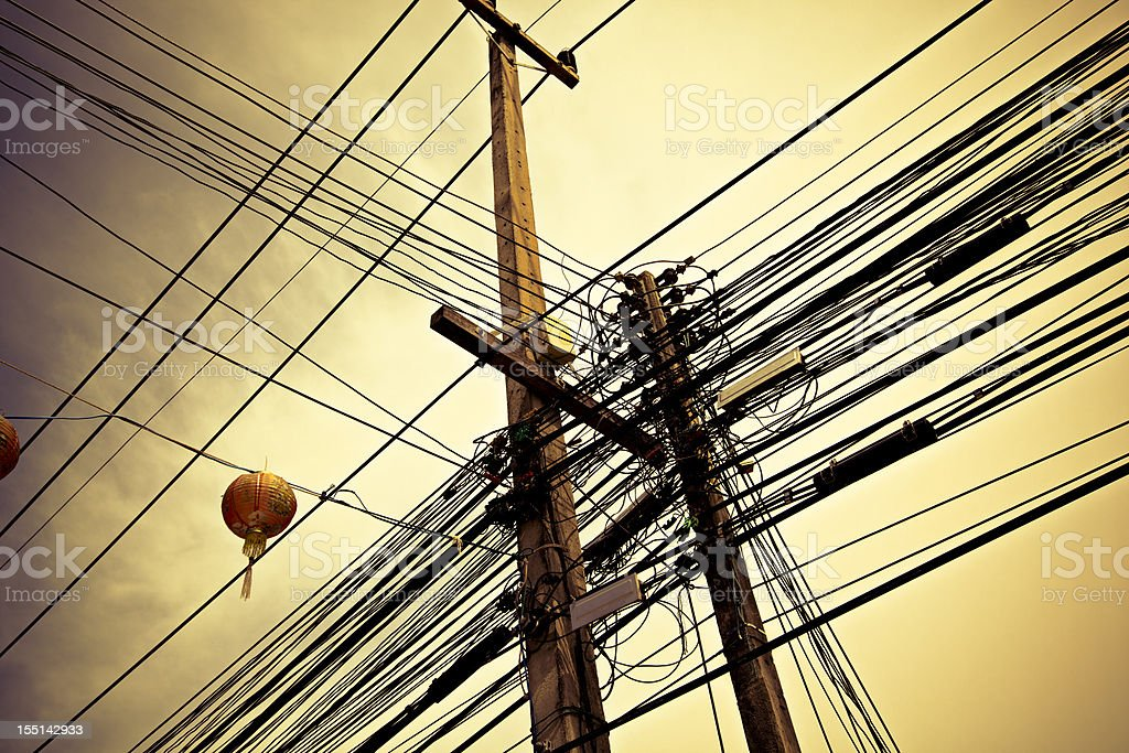 thailand electricity stock photo
