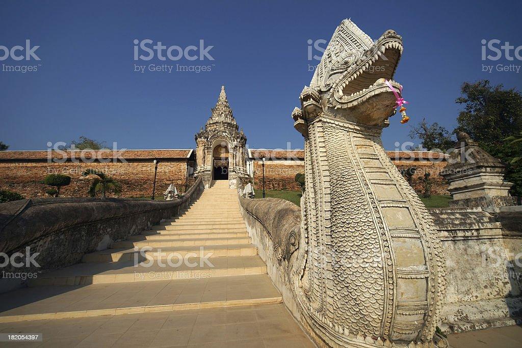 Thailand,  Entrance of Wat Phra That Lampang Luang royalty-free stock photo
