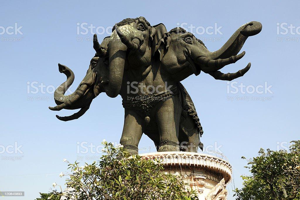 Thailand Erawan museum elephant temple royalty-free stock photo