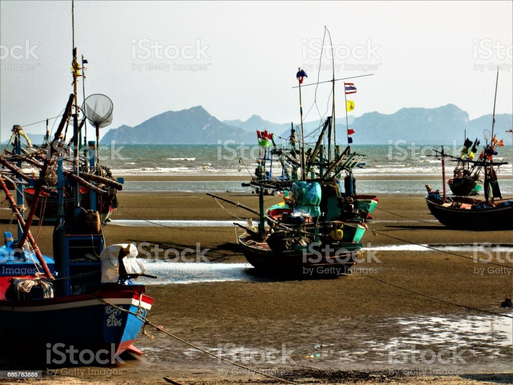 Thailand fishing boats royalty-free stock photo