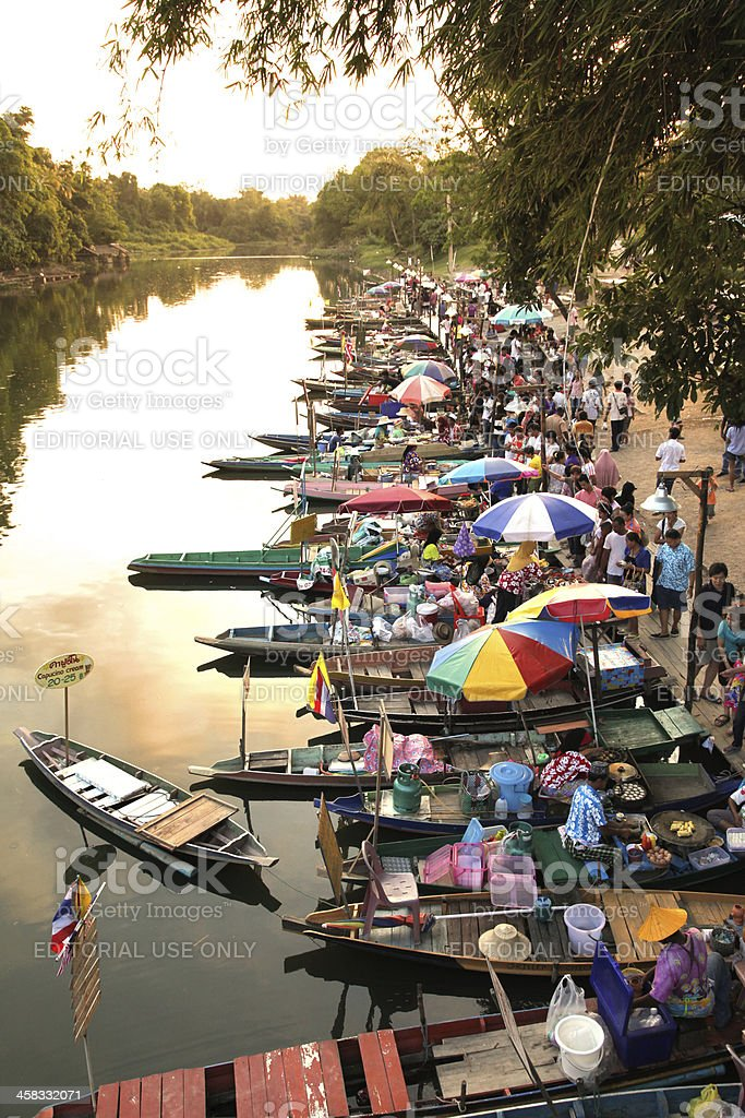 Thailand Floating Market royalty-free stock photo