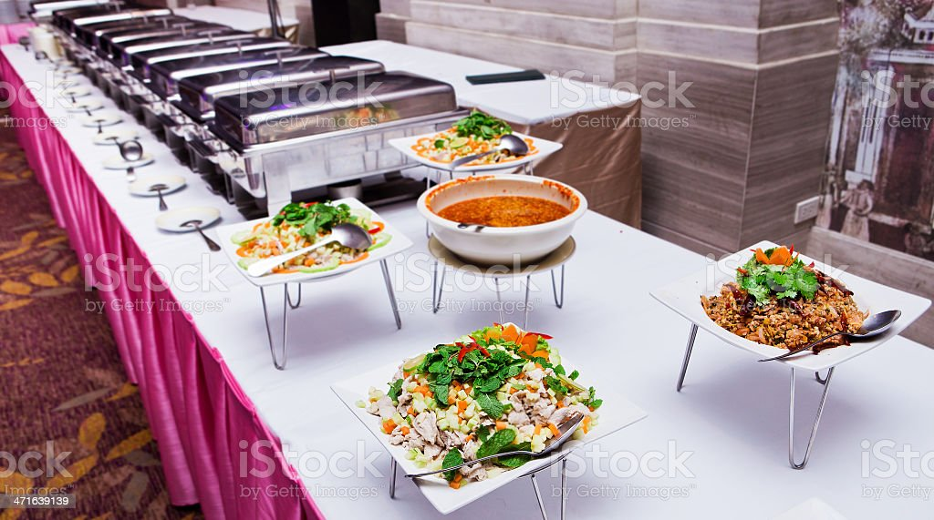 Thailand food buffet. royalty-free stock photo