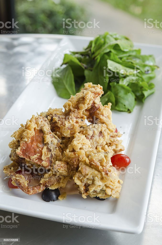 Thailand food containing crab salad. Herbs and Vegetables of Thailand royalty-free stock photo